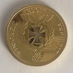 Réplica moneda de oro del Reichbank 1888