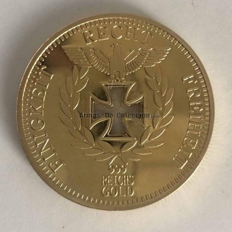 Réplica moneda de ordo del Reichbank 1888