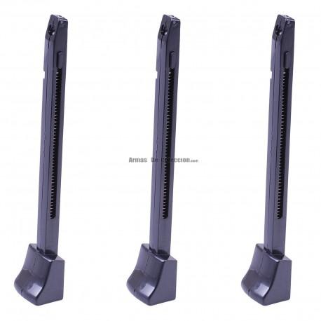 Cargador tres unidades para WALTHER PPK/S BLOWBACK Pistola 4.5MM CO2