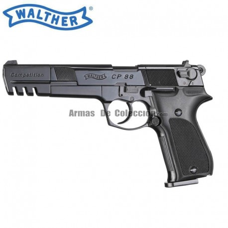 """Co2 WALTHER CP88 COMPETICION NEGRA 5,6"""" 4.5 MM PELLET M10"""