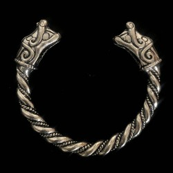 Brazalete vikingo Serpiente de Midgard
