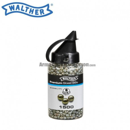 4.5 mm bolas acero Walther Premiums 1500 bbs