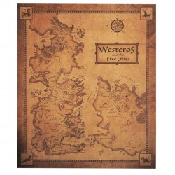 Juego de Tronos: Mapa 42 cm x 36 cm de Poniente y las ciudades libres.