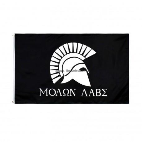 Bandera Esparta Molon Labe