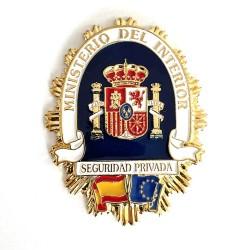 Placa Escolta Seguridad Privada Ministerio Interior