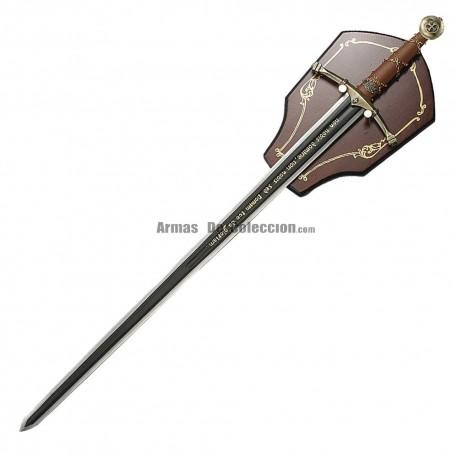 Templar sword Non Nobis Domine
