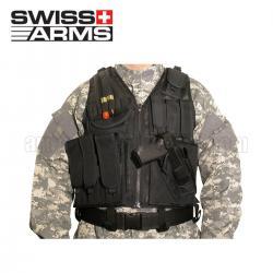 Chaleco Táctico Swiss Arms con Pistolera