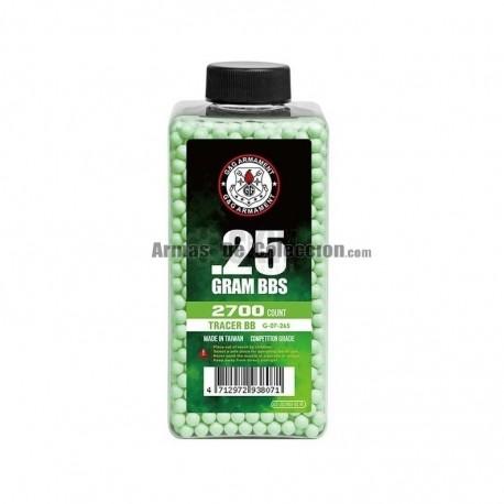0,20 grs - 6mm - Bolas trazadora Duel Code Rojas