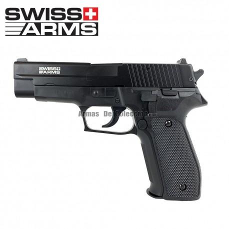 SWISS ARMS NAVY PISTOL TIPO P226 Pistola 6MM Muelle con Corredera Metálica