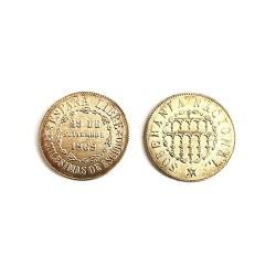 Réplica de moneda de 1868 25 MILESIMAS DE ESCUDO
