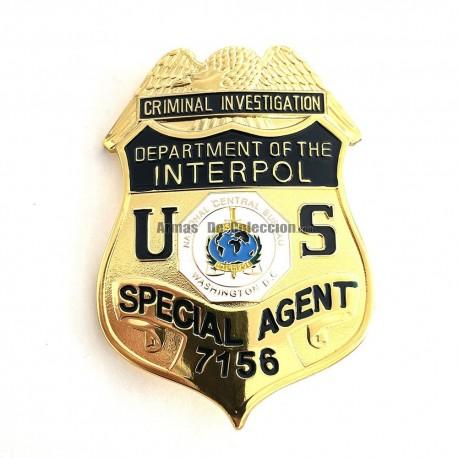 Placa US LAPD Los Angeles Police Officer NO. 13958 Metal