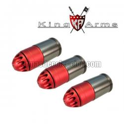 Lot 3 King Arms grenades 120 bbs for grenade launcher