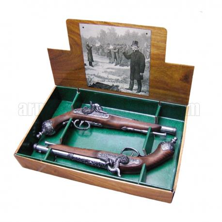 Duas pistolas de duelo italiano de 1825
