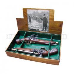 2 pistolas de duelo, siglo XVIII