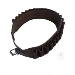Leather cartridge belt.