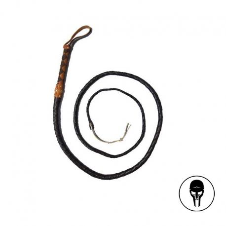 Leather whip (large). 336cms.