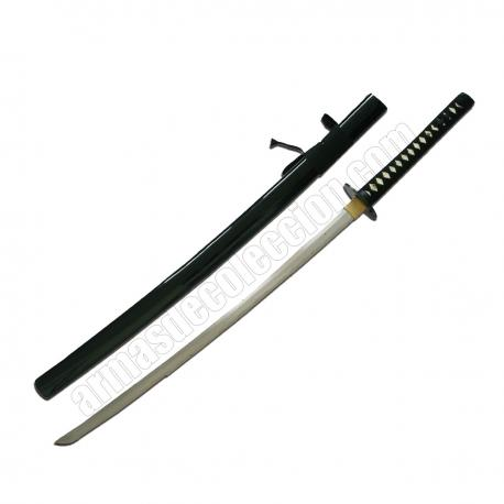 Katana sword carbon steel. Black Saya