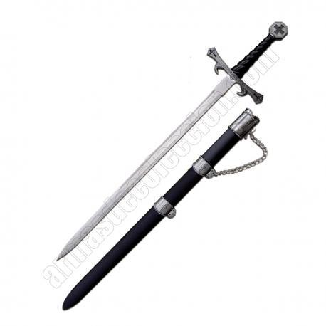 Templar sword with scabbard