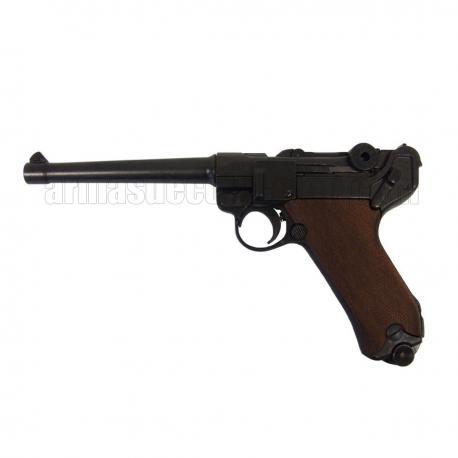 """Luger P08 Parabellum 6"""" (punho madeira)"""
