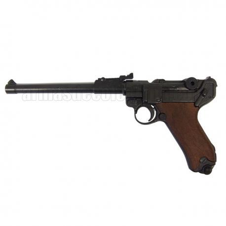 """Luger P08 Parabellum 8"""" (punho madeira)"""