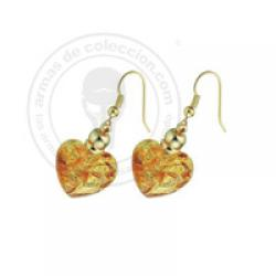 EARRINGS WITH GOLD WHIT