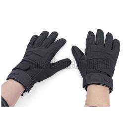 Guantes airsoft full finger. Negros