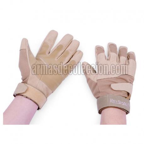 Luvas bronzeadas Airsoft com dedos completos