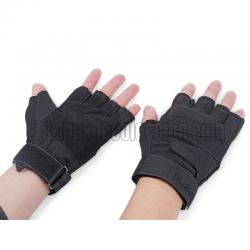 Guantes airsoft half finger. Negros