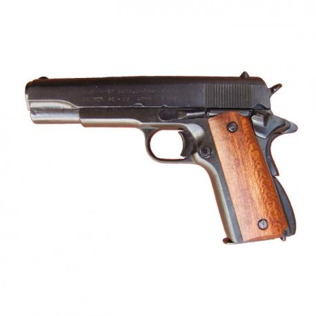 Colt .45 automatic Government wooden grips