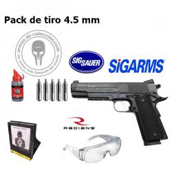 Pack de tiro Sigarms GSR 4,5 mm