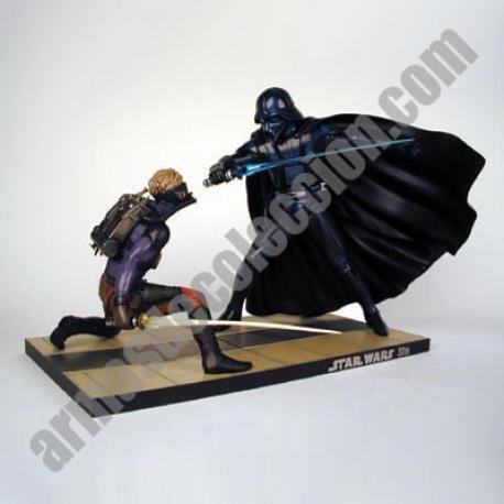 Star Wars : Luke Skywalker vs Darth Vader Versión McQuarrie 30 a