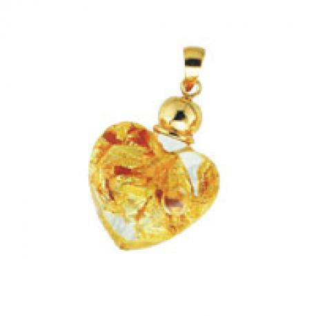 PENDANT WITH GOLD WHIT