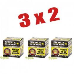 2500 shots/bag 0,12 grs yellow paint 3X2