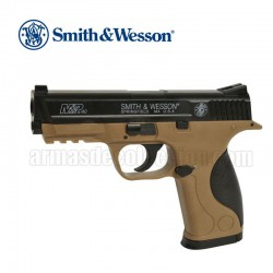 Smith & Wesson M&P 40 TAN Corps TAN Pistola 6MM Muelle