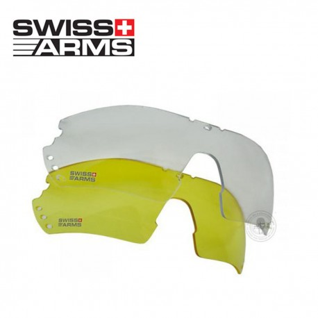 Swiss Arms approved protection glasses. Interchangeable crystals