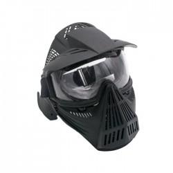 Máscaras com tela de proteção (preto)