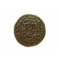 Gold doublon coined in Seville Felipe II, 1556-1598