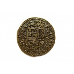 Moeda dobrão sevilhano Felipe II entre 1556-1598