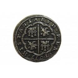 Moneda 8 Reales de plata (Pieza de ocho) Felipe IV en 1635