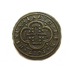 Moeda de 100 Escudos de Ouro (Centen)Felipe IV 1637