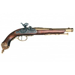 Percussion pistol, Brescia (Italia) 1825. Gold