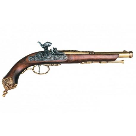 Percussion pistol, Brescia (Italia) 1825. Gold