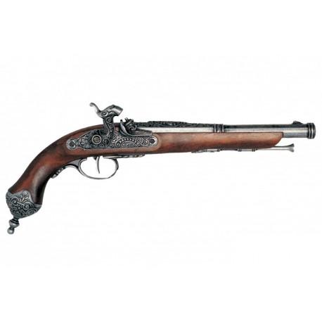 Percussion pistol, Brescia (Italia) 1825. Silver