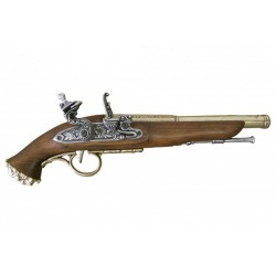 Pirate flintlock pistol, 18th. C. Gold