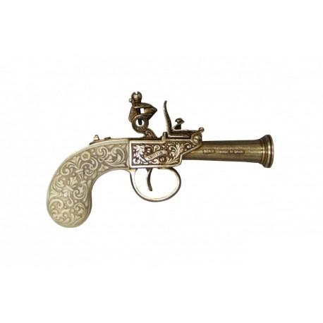pistola de pederneira Inglês, ano 1798 ouro