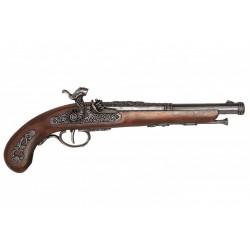 Pistola de percusión, Francia 1832. Plata vieja