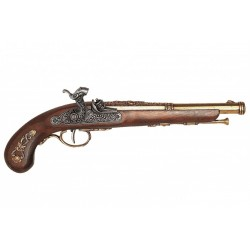Percussion pistol, France 1832. Gold