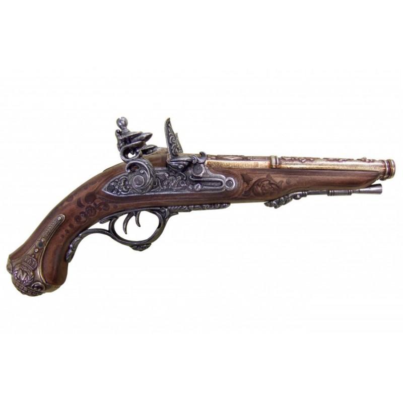 Pistola de 2 cañones de Napoleón, Francia 1806 - Armas de Colección