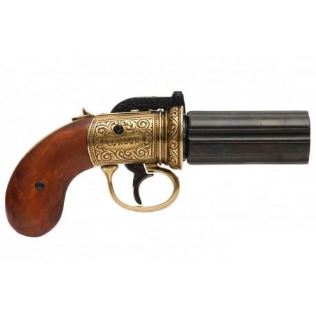 Revólver pimentero de 6 cañones, Inglaterra 1840