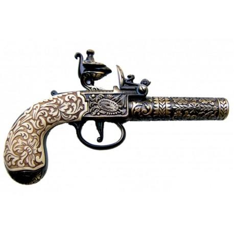 Flintlock pocket pistol, London 1795
